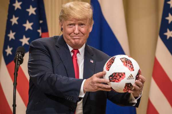 Putin may have given Trump a soccer ball with a microchip in it. It's not what you think.
