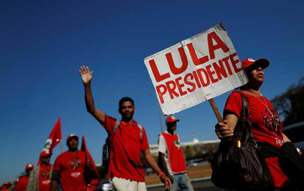Brazilian Workers' Party Registers Jailed Silva for Presidential Race