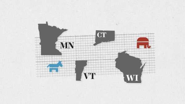 Live results for Wisconsin, Minnesota, Connecticut, and Vermont primary elections