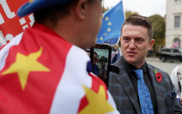 'Fascism': Tommy Robinson Scolds PayPal for Blocking Him From Cash