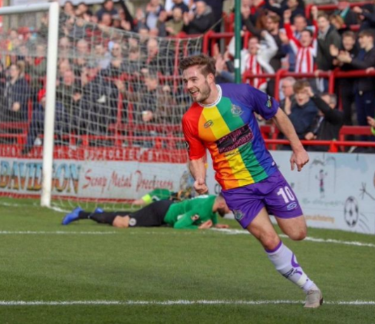 Altrincham FC 'first in the world' to wear LGBT kit in competitive fixture