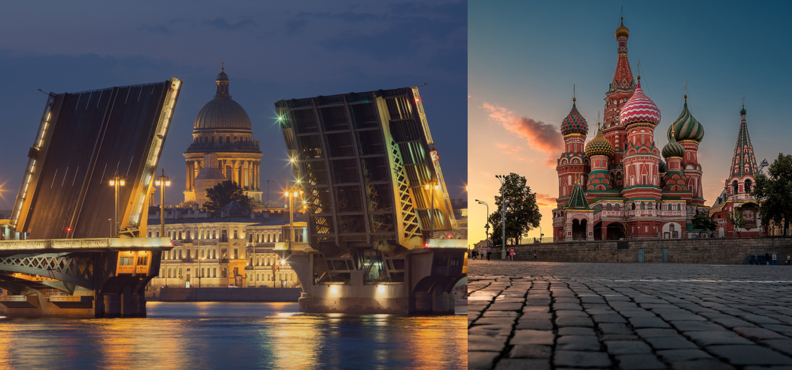 Tours to St. Petersburg and Moscow