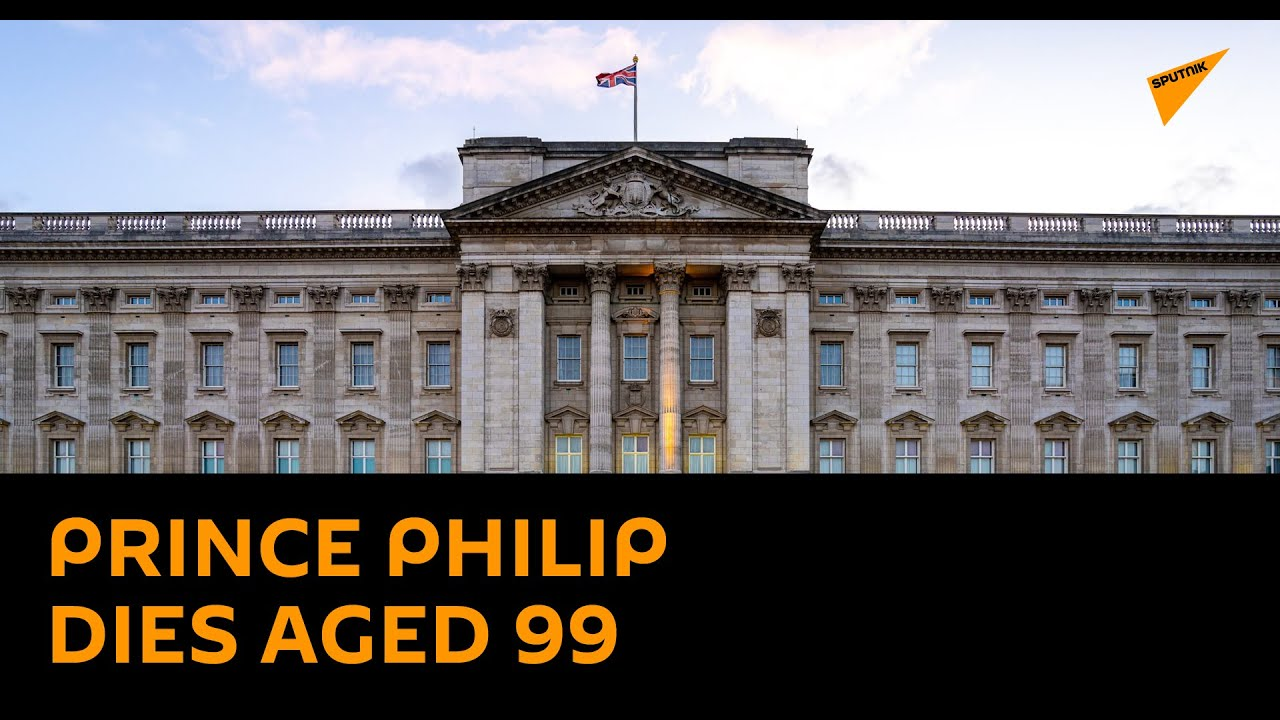 View Outside Buckingham Palace After The Announcement of Prince Philip's Death